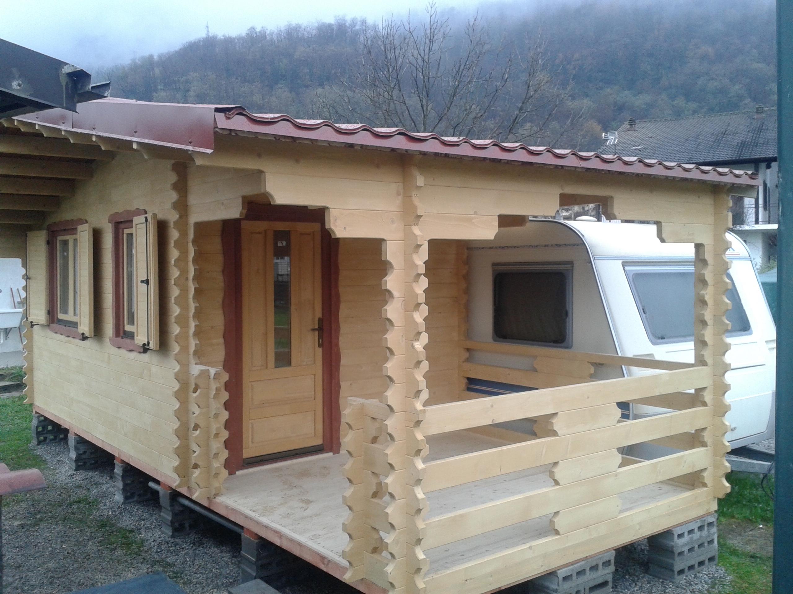 Casette da campeggio case in legno casette in legno for Casette prefabbricate legno