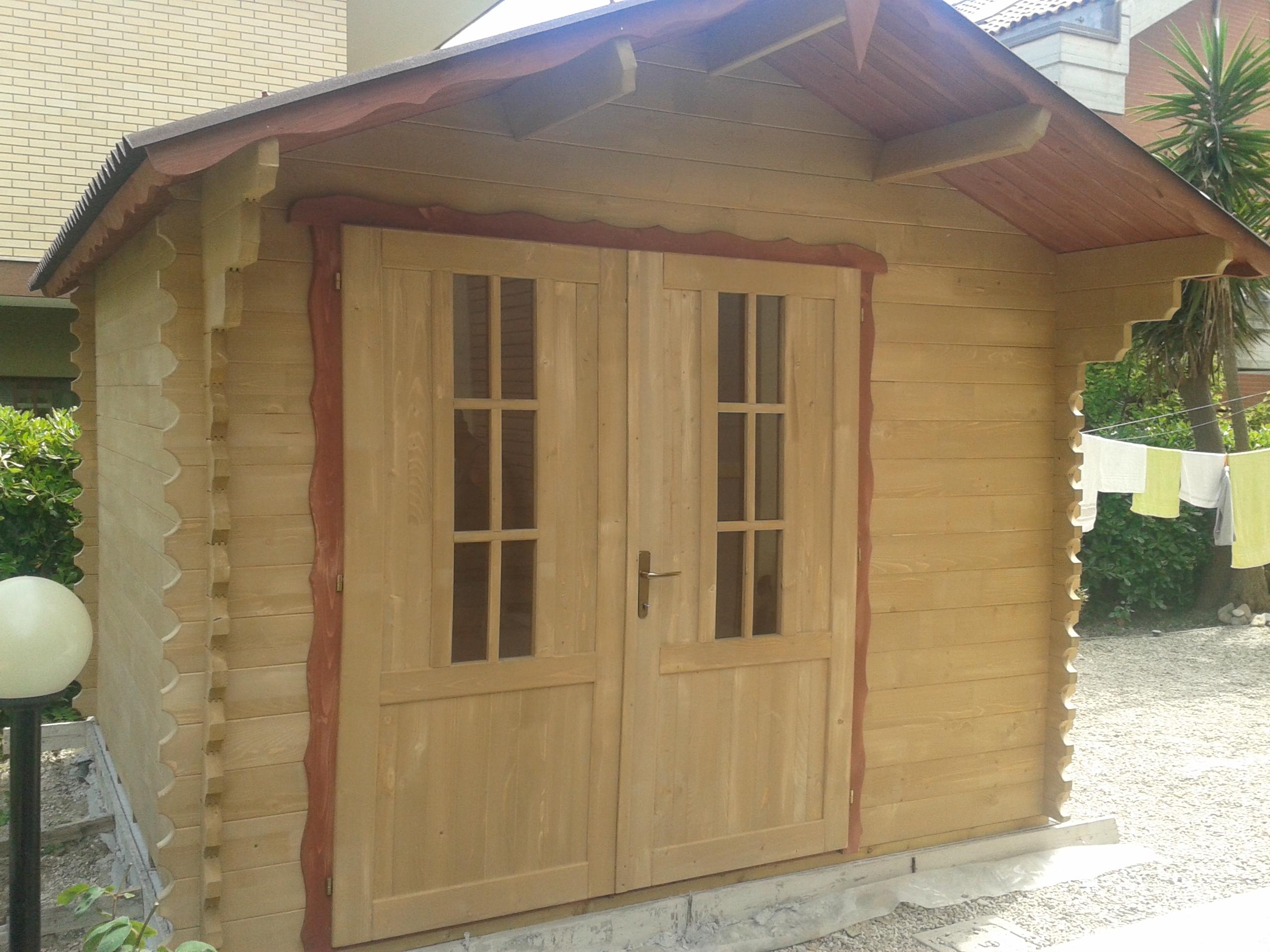 Casette in legno di abete 3x5 mt case in legno for Casette prefabbricate in cemento