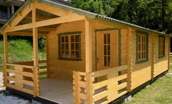 Case in legno case in legno casette in legno per campeggi for Case in legno senza fondamenta
