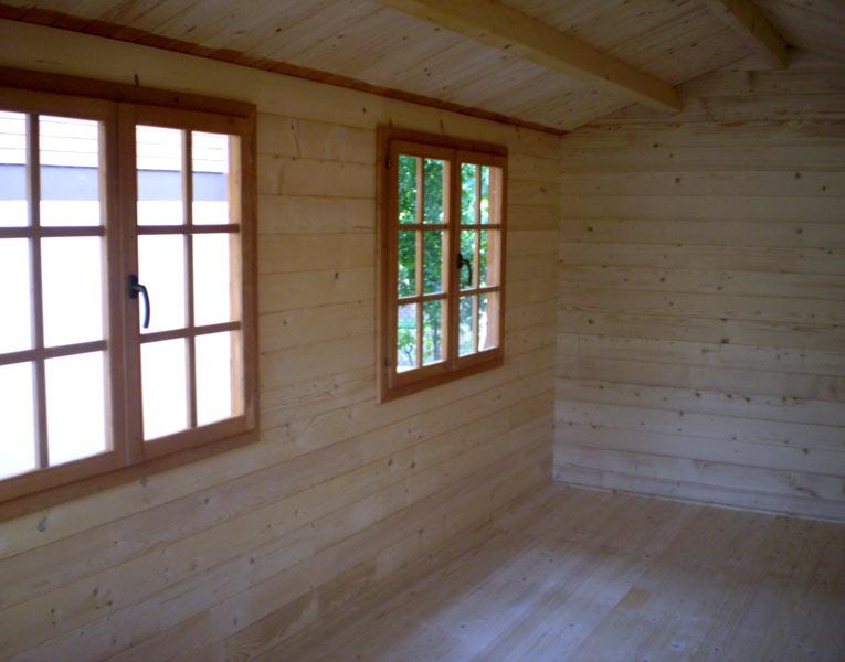 Casette in legno di abete 3x5 mt case in legno - Case prefabbricate interni ...