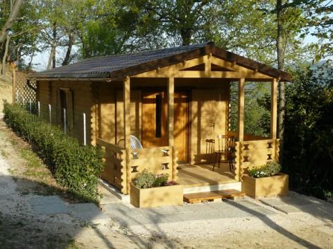 Casa in legno di abete 4x10 mt.