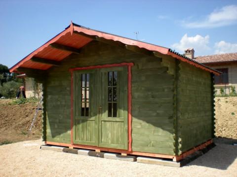 Casa in legno di abete 4x4 mt.