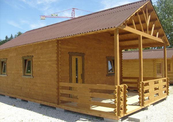 Casette in legno di abete 5x9 mt con soppalco case in for Case di legno tedesche