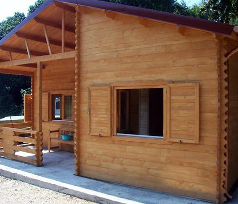 Casa in legno di abete 6x10 mt.