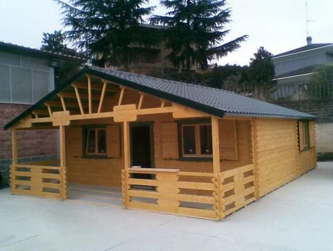Casa in legno di abete 7x9 mt.
